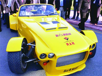 Nihat Ergün bor enerjisi ile çalışan arabayı test etti