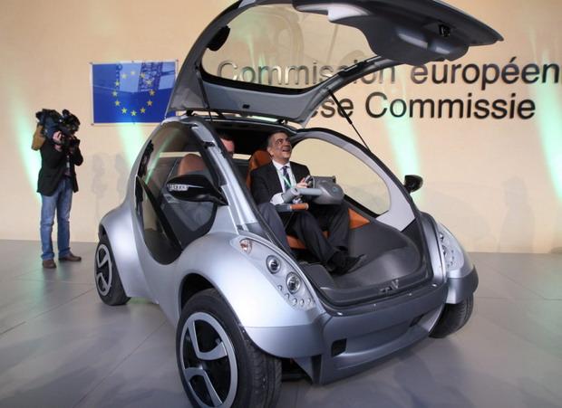 Katlanan elektrikli otomobil tanıtıldı