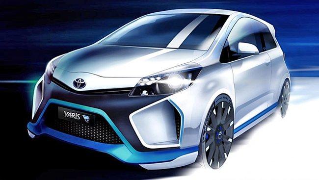 Toyota Yaris Hybrid R'sini gösteriyor