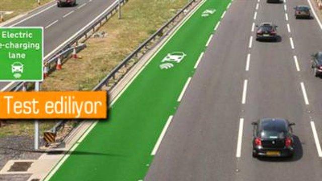 İngiltere'de Elektrikli Araçlara Özel Şarj Şeridi