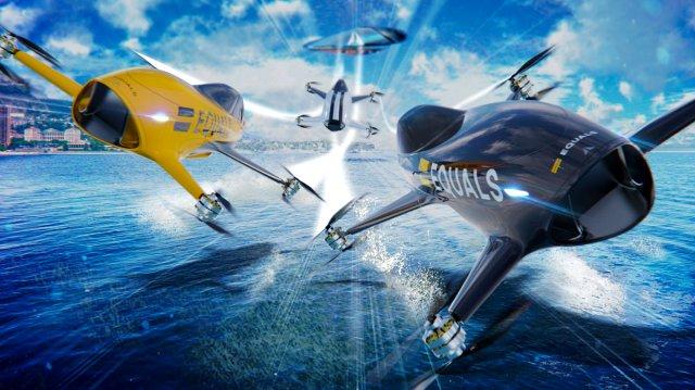 Gelecekte Elektrikli Uçan Araba Yarışlarına Hazır Olun!